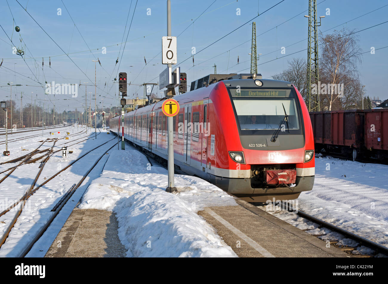 S Bahn (suburban railway) Solingen, Germany. Stock Photo
