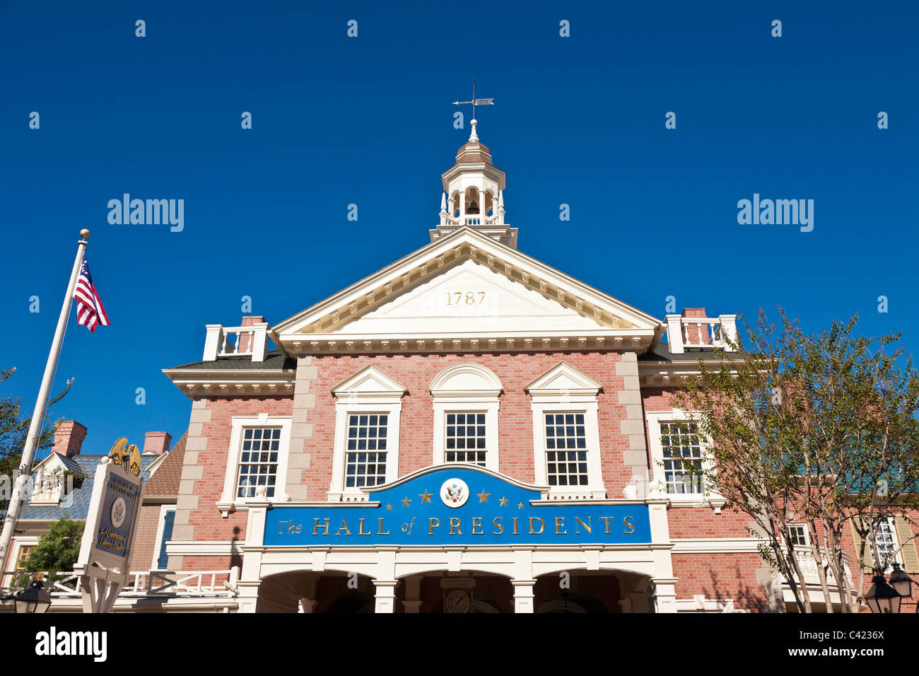 The Hall of Presidents in the Magic Kingdom at Disney World, Kissimmee, Florida - Stock Image