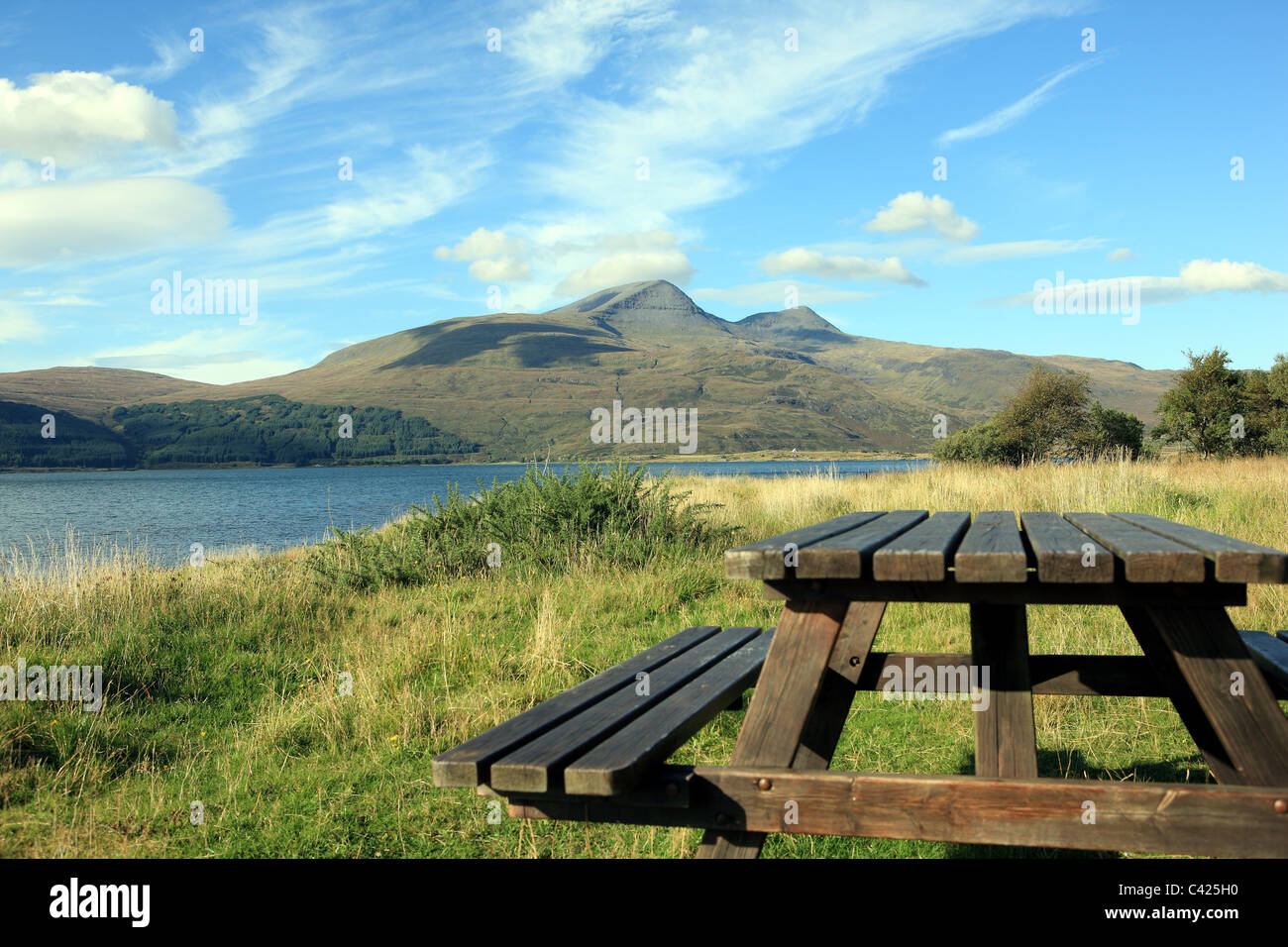 Ben More on the Isle of Mull from Loch Scridain - Stock Image