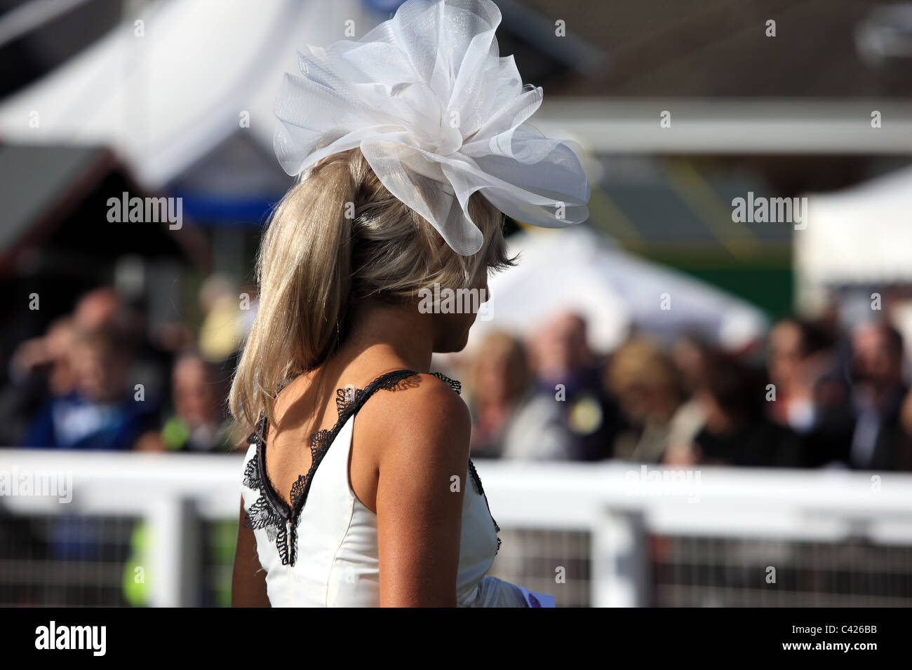 Ladies day at the races - Stock Image