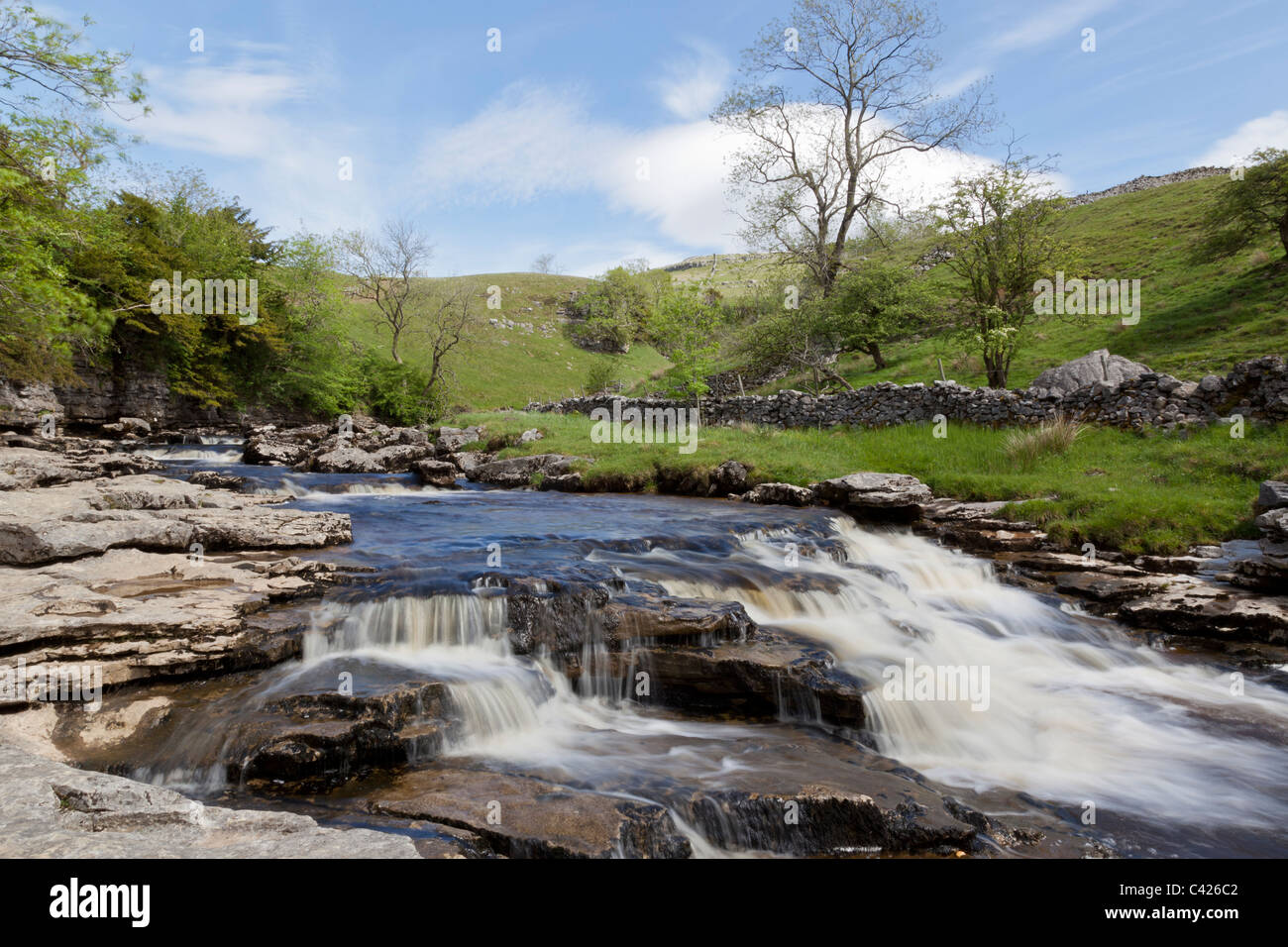 Kingsdale Beck above Thornton Force, on the Ingleton Waterfalls Walk, North Yorkshire - Stock Image
