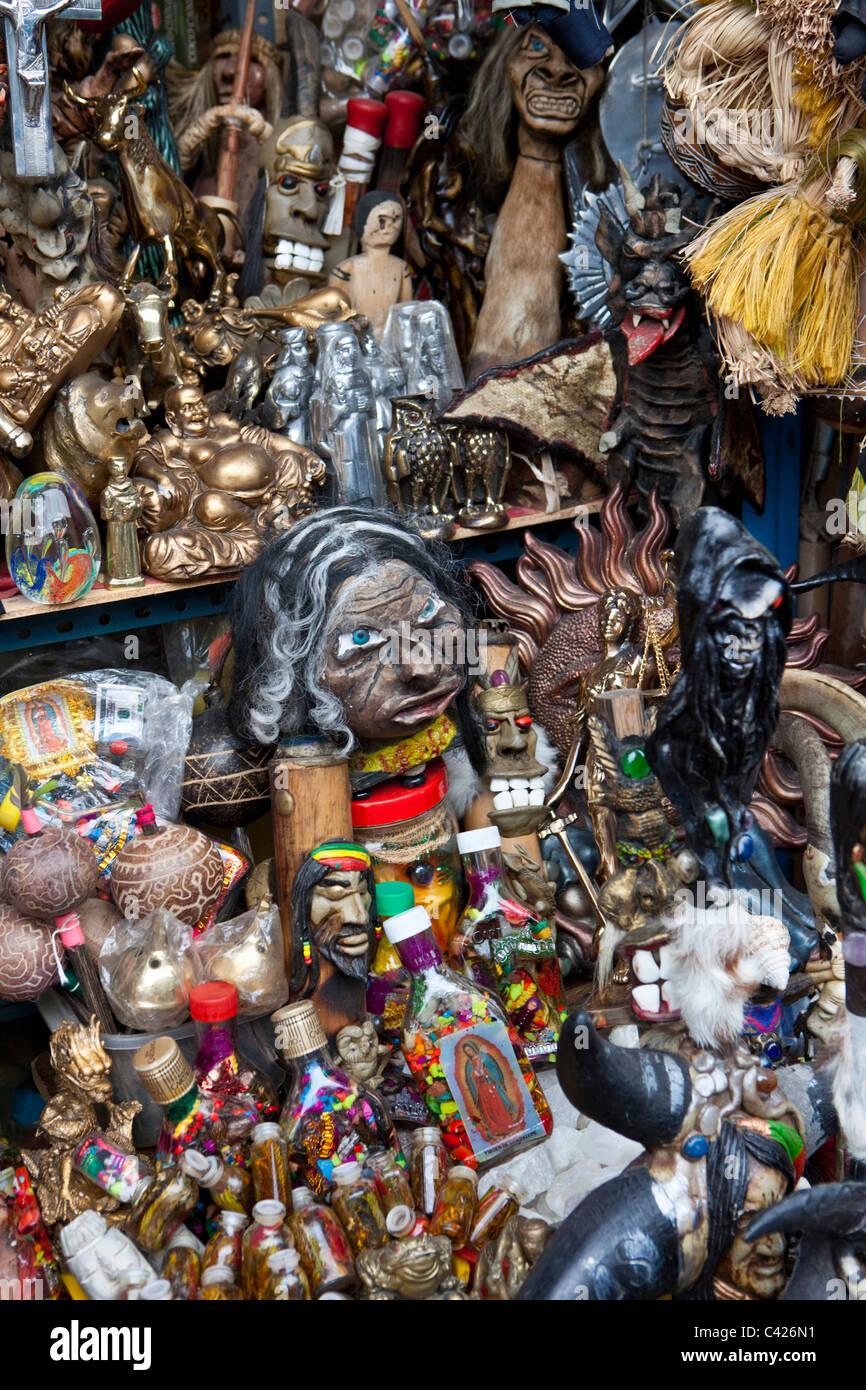 Peru, Chiclayo, Witchcraft, Shaman market. - Stock Image