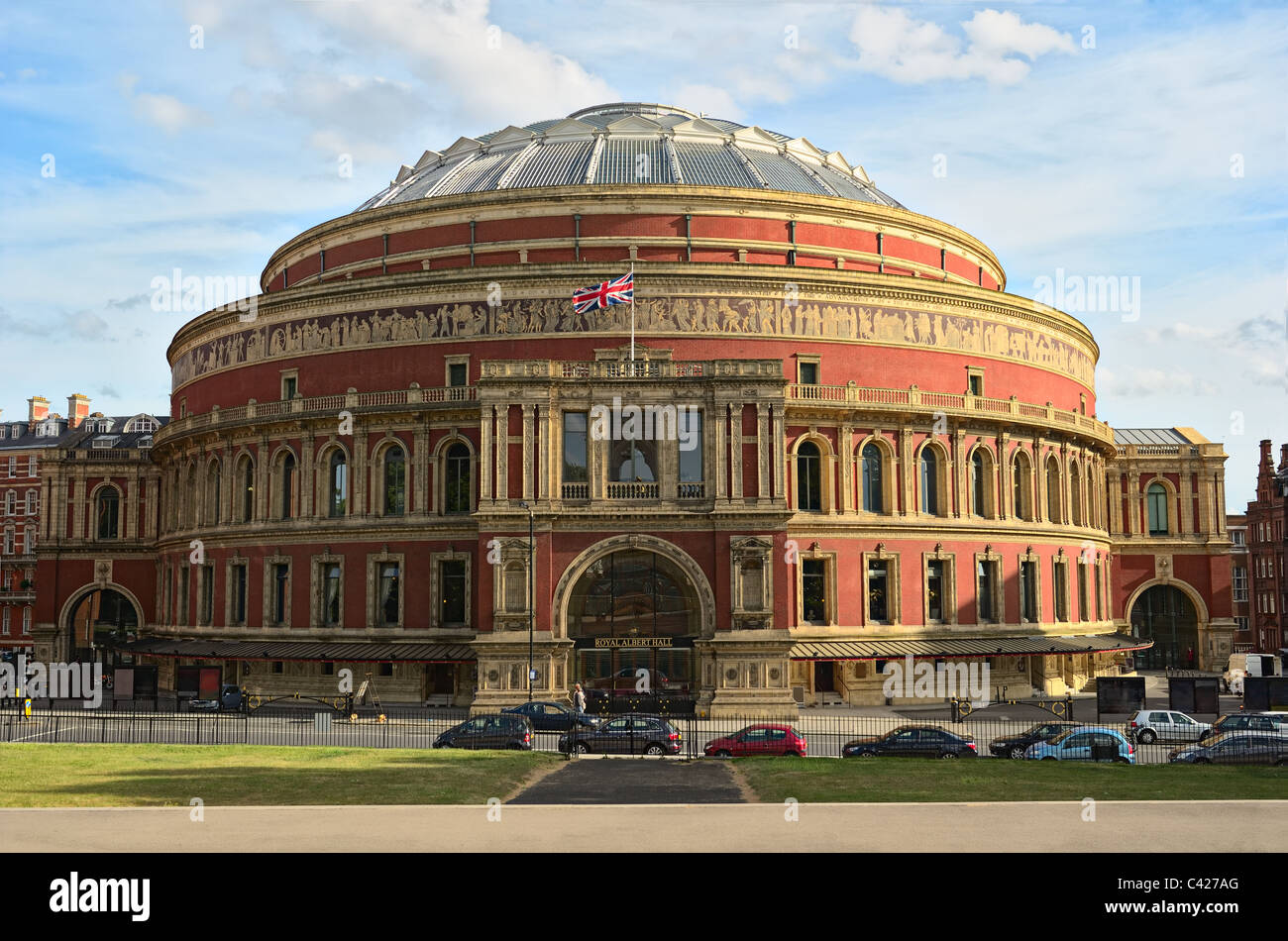 Royal Albert Hall, London, England, UK, in late afternoon daylight - Stock Image