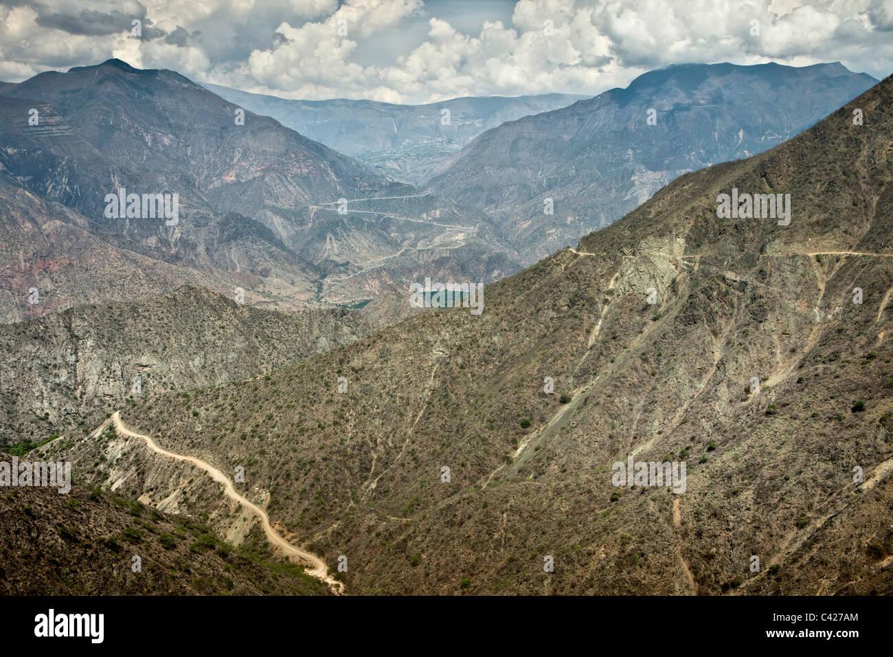 Peru, Leymebamba, Road to Cajamarca. View from Calla Calla Pass. (3600 m). - Stock Image