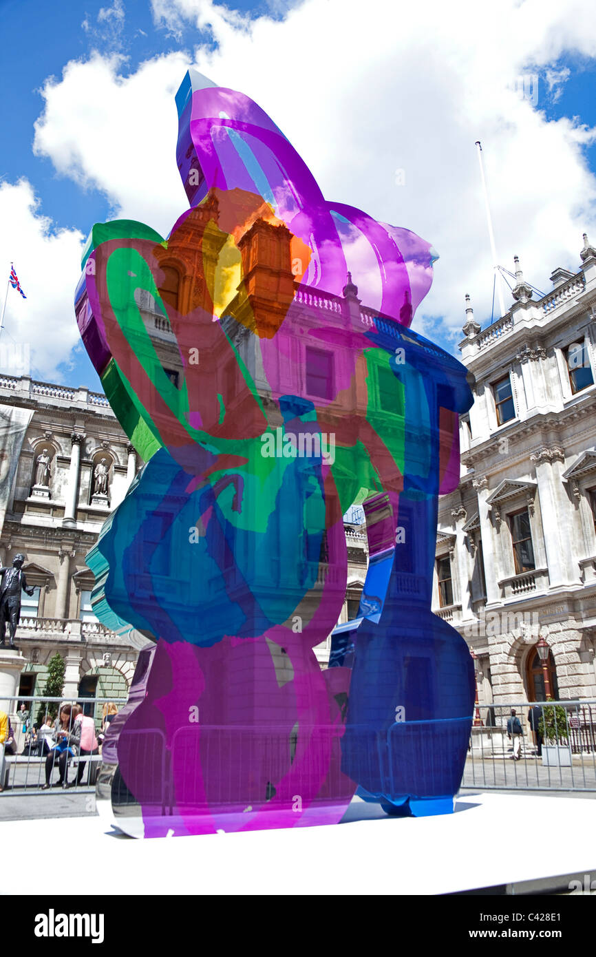 London, Piccadilly Jeff Koons\' Coloring Book sculpture at the Royal ...