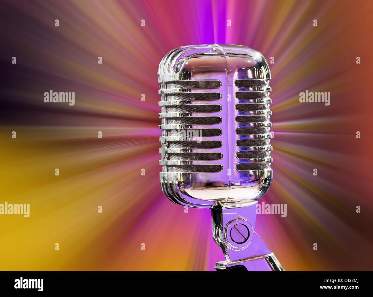 microphone - Stock Image