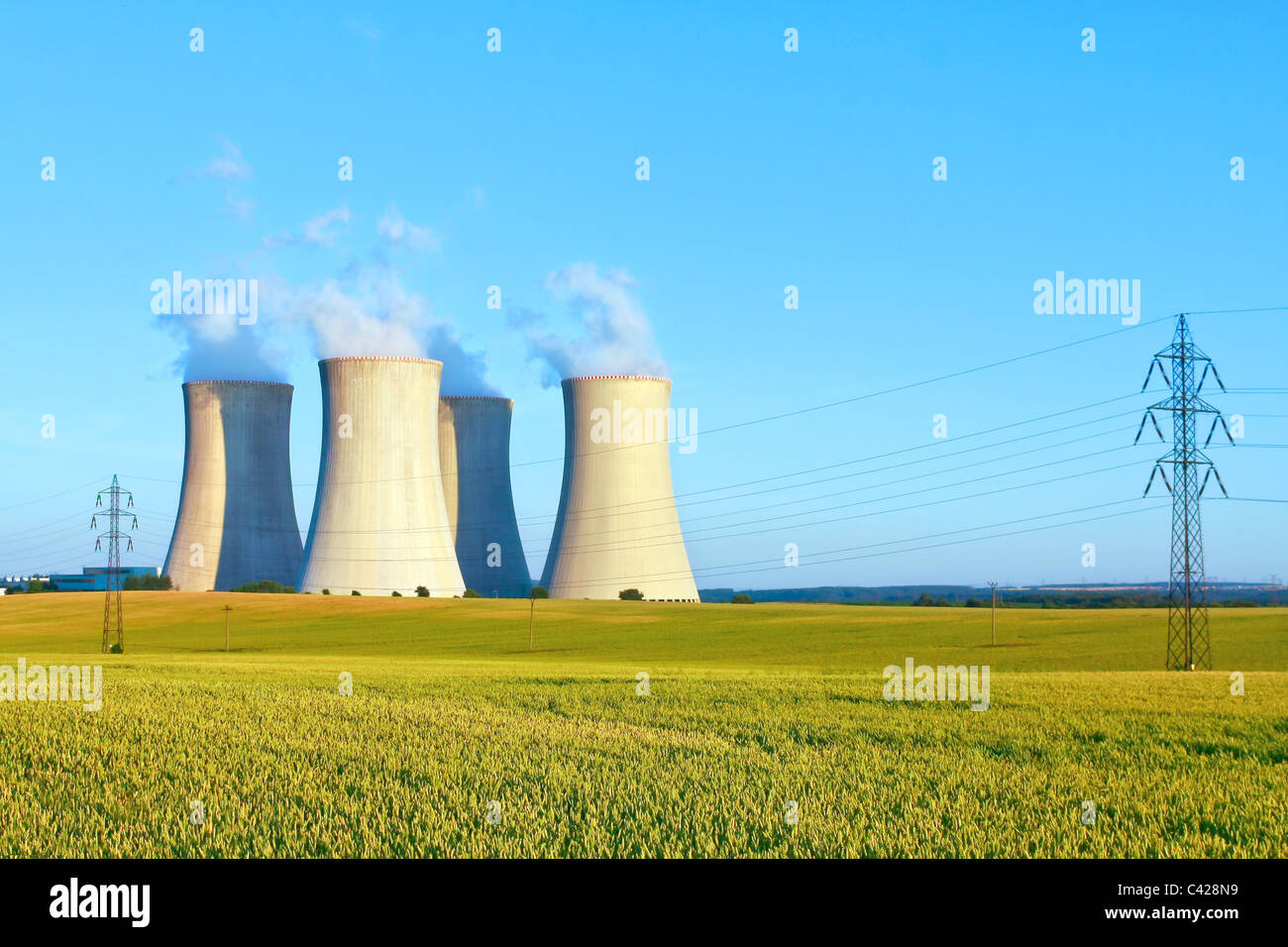 Nuclear power plant, Dukovany, Czech Republic - Stock Image