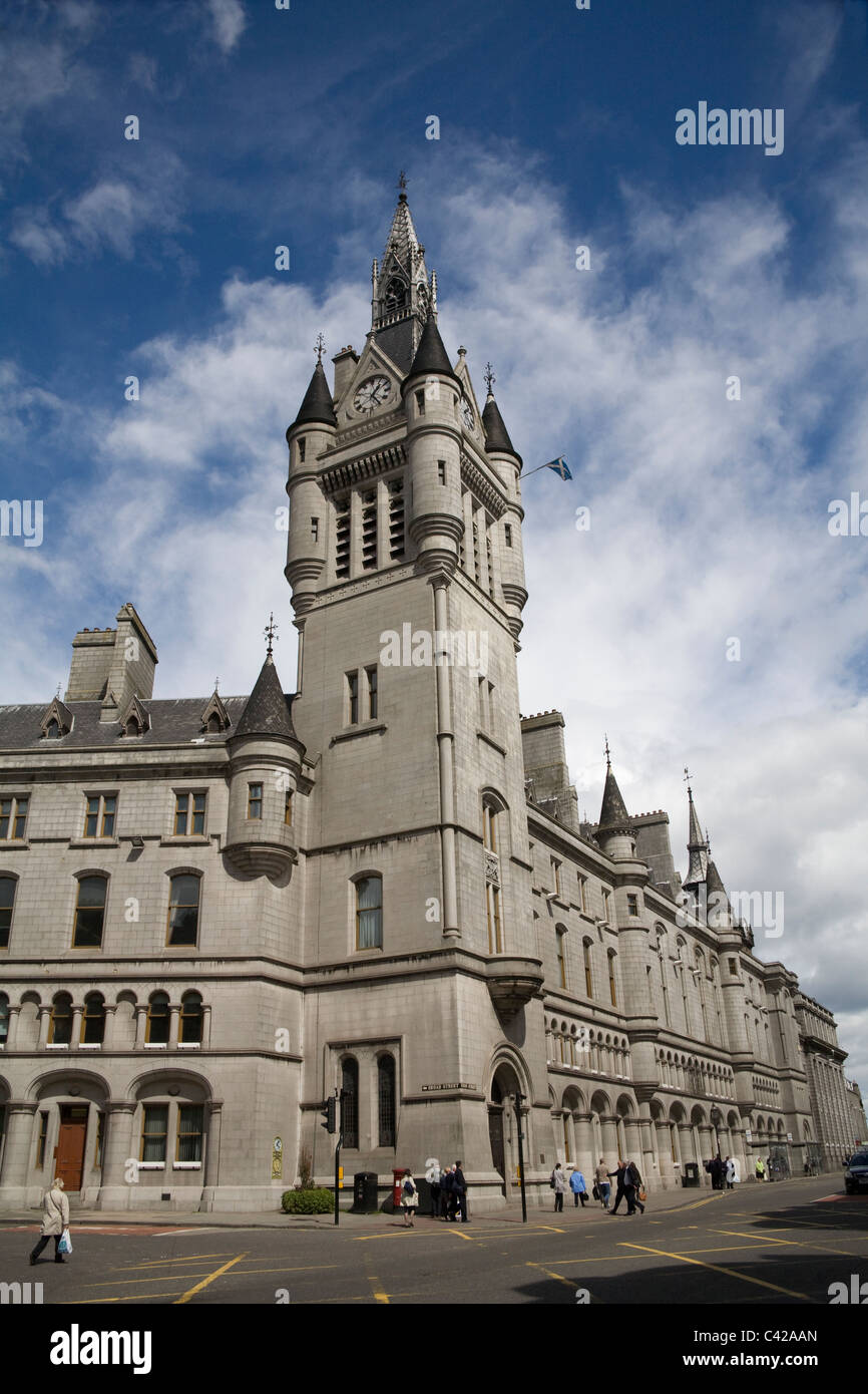 Aberdeen Scotland UK The Old Town House originally home of Burgh's local Government built in 1789 on the corner - Stock Image