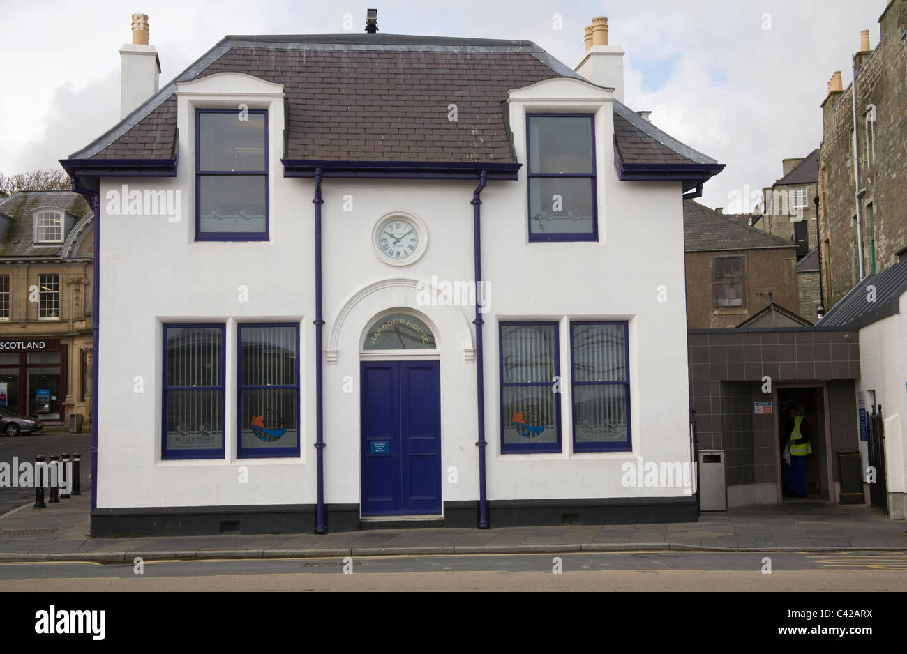Lerwick Shetland Isles Scotland UK Harbour House a listed building once served as the harbour office Stock Photo