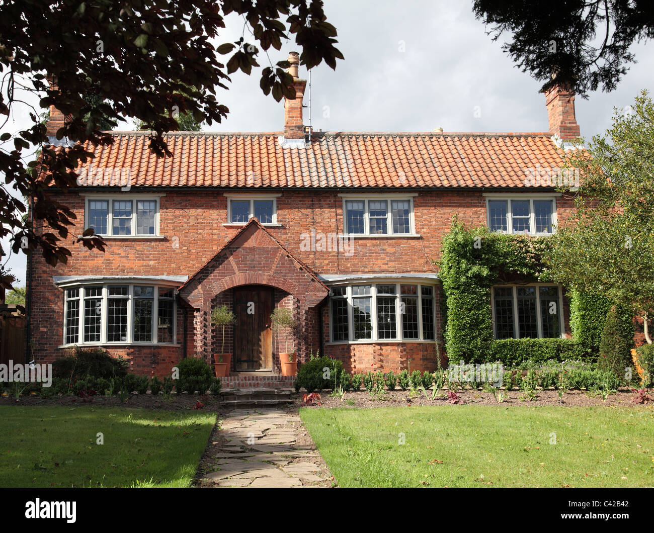 A large detached house in the U.K. Stock Photo