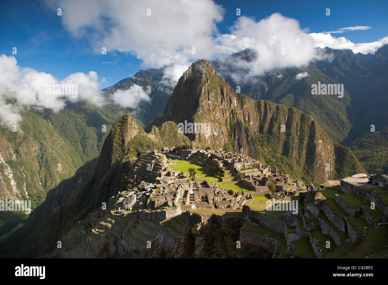 Peru, 15th-century Inca site located 2,430 metres (7,970 ft) above sea level. - Stock Image
