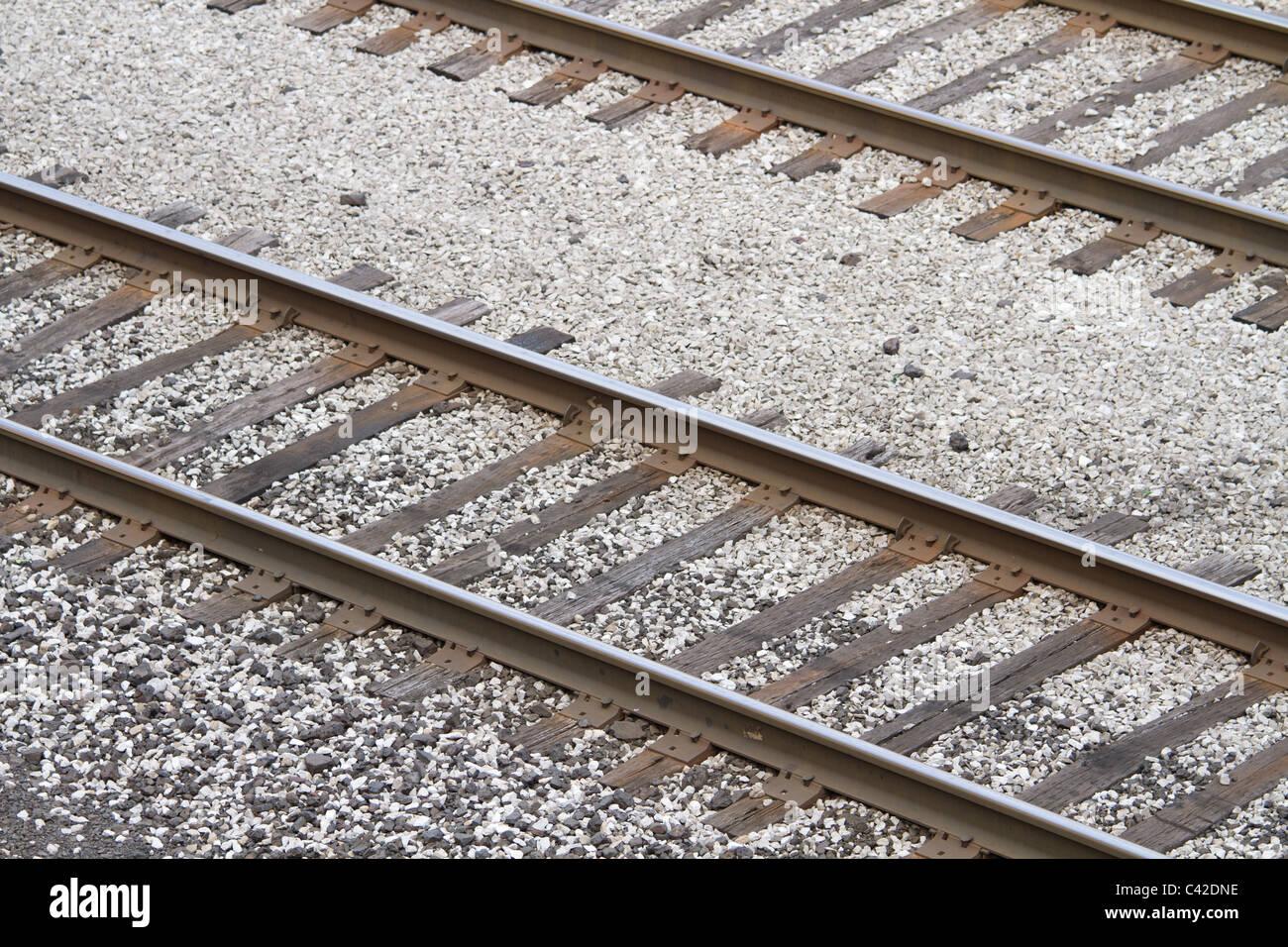 railroad track - Stock Image