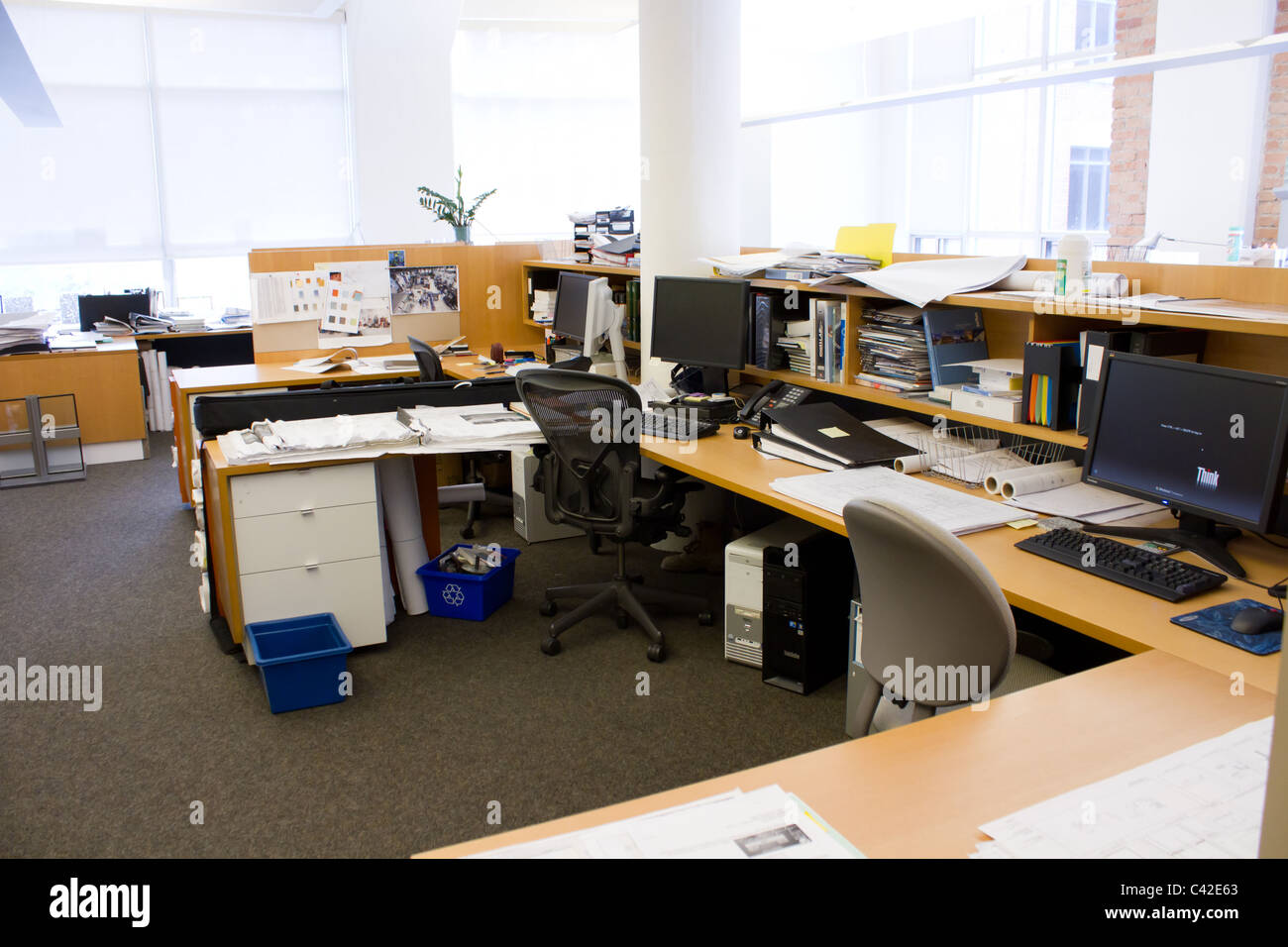 open office concept natural light Stock Photo 36934411 Alamy