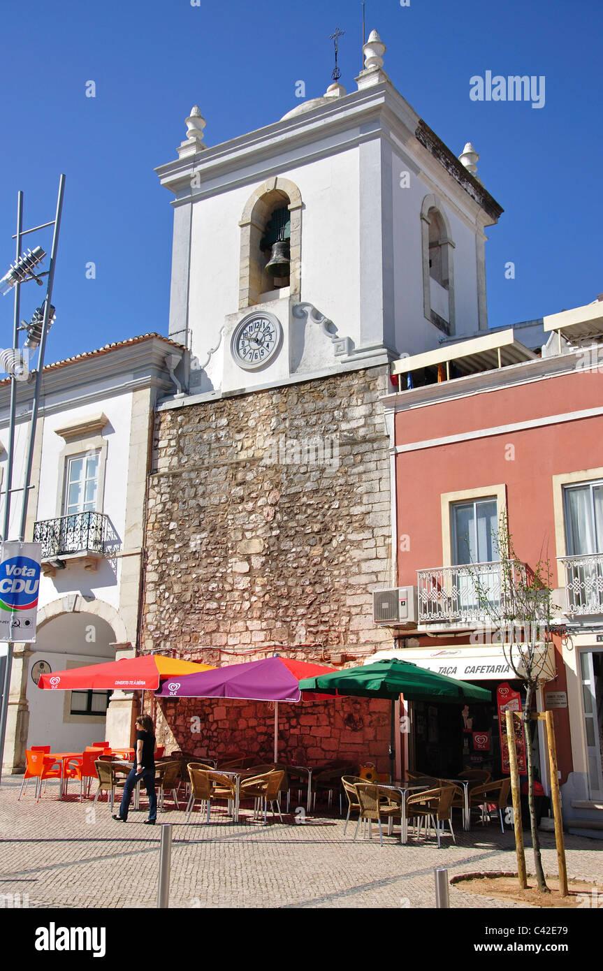 Street cafe, Loulé, Faro District, Algarve Region, Portugal - Stock Image