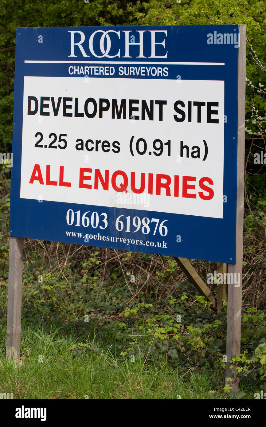 Sale of land, infill, of a 'brown field' site. Norwich. Norfolk. - Stock Image
