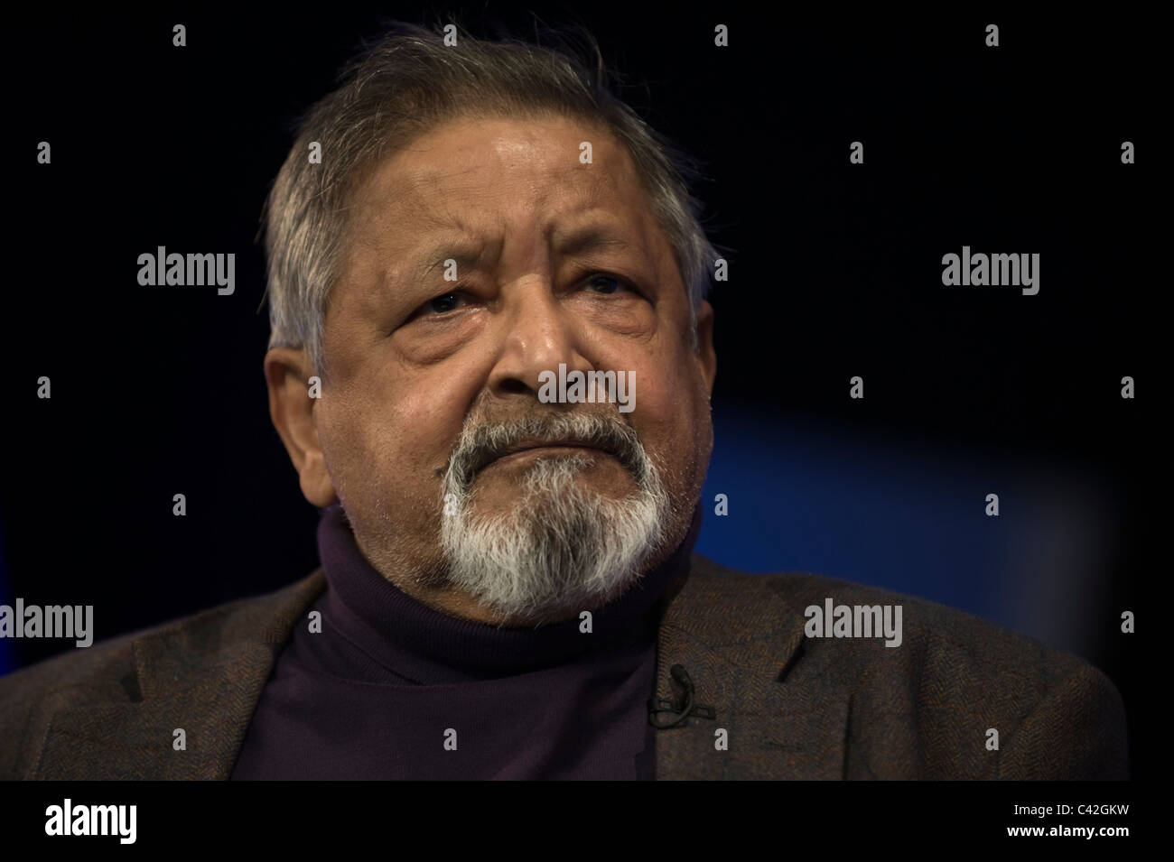 VS Naipaul Nobel Laureate author pictured at Hay Festival 2011 - Stock Image