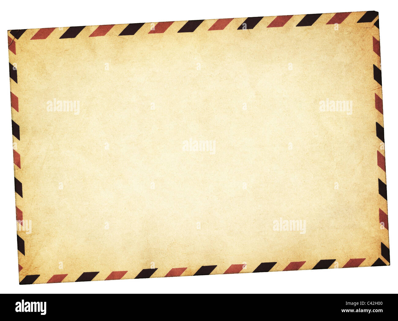 Vintage style envelope path added - Stock Image