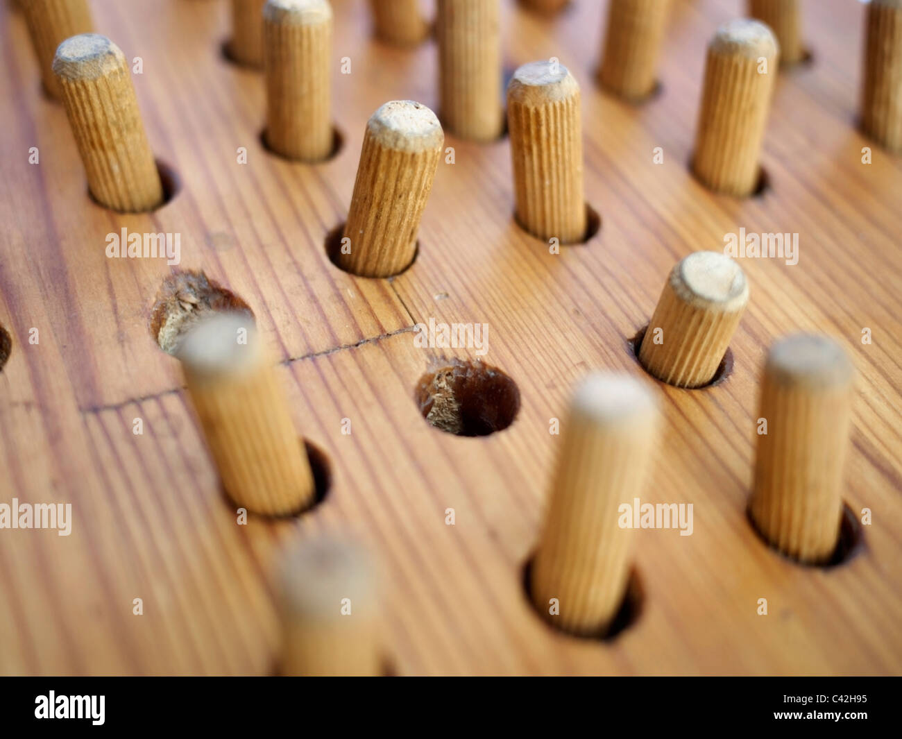 Peg Solitaire game - Stock Image