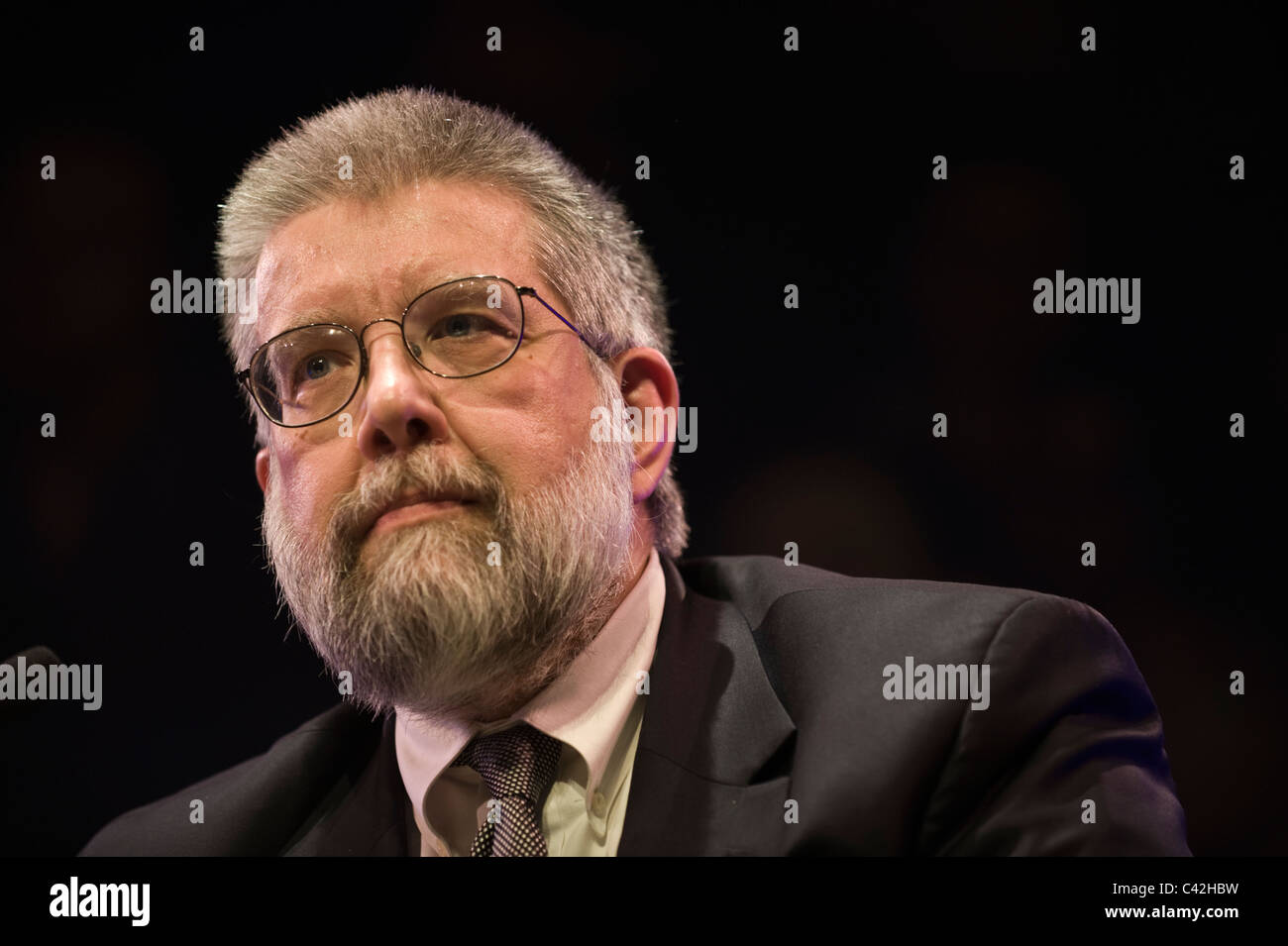 Michael Scheuer former head of CIA Bin Laden Unit pictured at Hay Festival 2011 - Stock Image