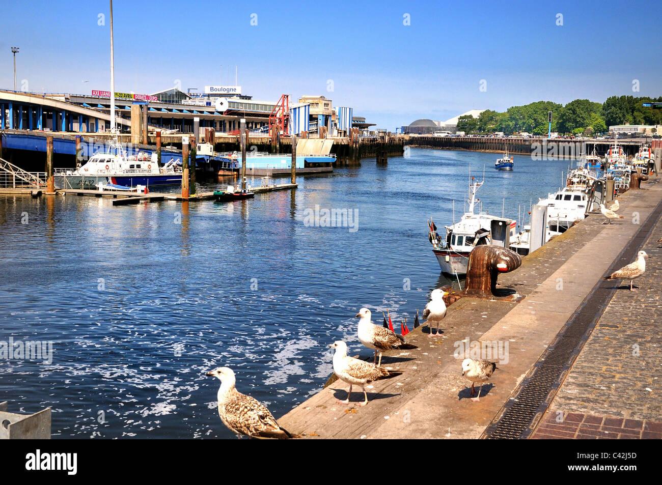 Boulogne sur Mer harbor France - Stock Image