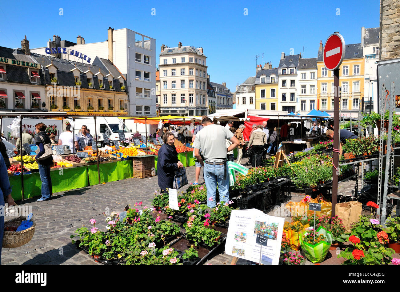 market place boulogne sur mer france stock photo 36937532 alamy. Black Bedroom Furniture Sets. Home Design Ideas