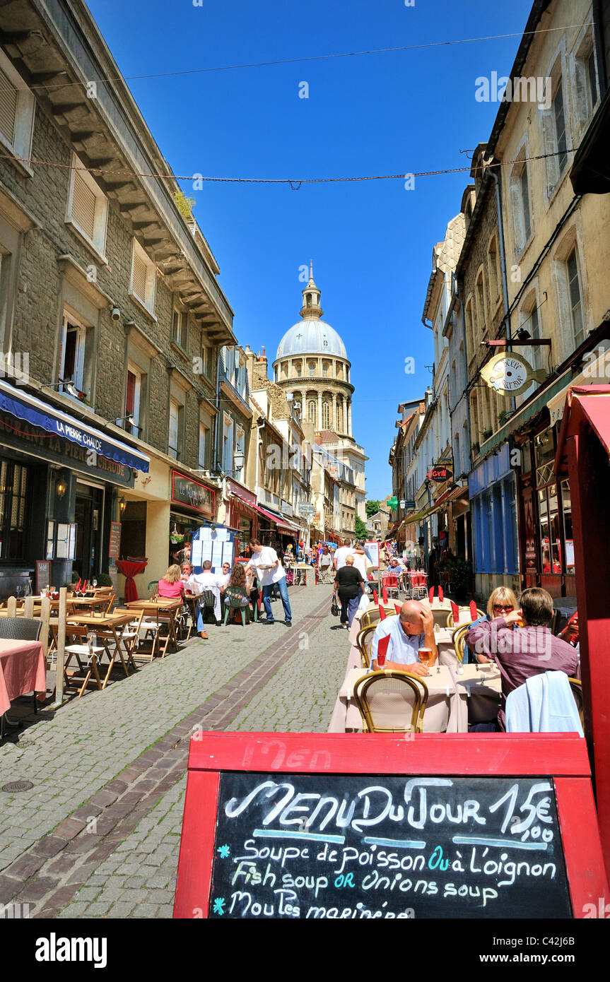 Boulogne old town centre,France - Stock Image