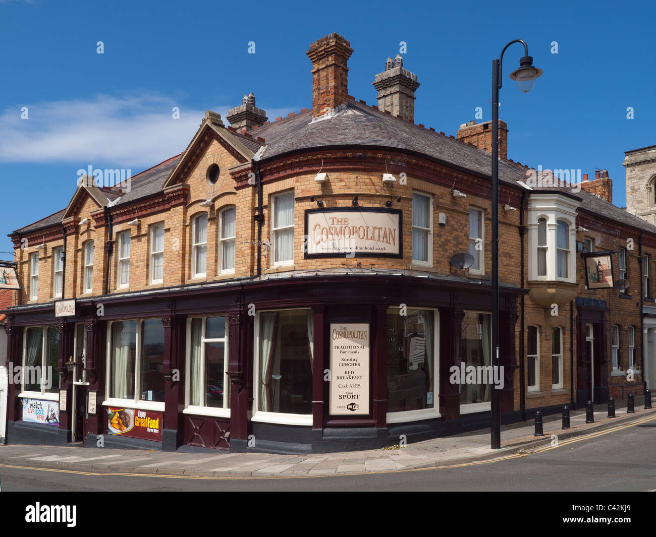 The Cosmopolitan a supposedly haunted Hotel on Heugh Headland Hartlepool Co. Durham - Stock Image