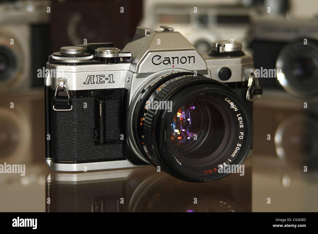 Canon AE-1 SLR camera - Stock Image