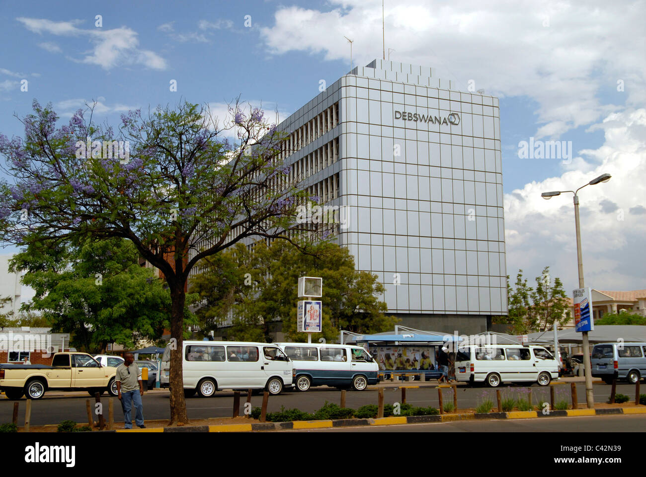 The HQ of Debswana, partnership between the Botswana Government and De Beers to exploit the country's diamond - Stock Image
