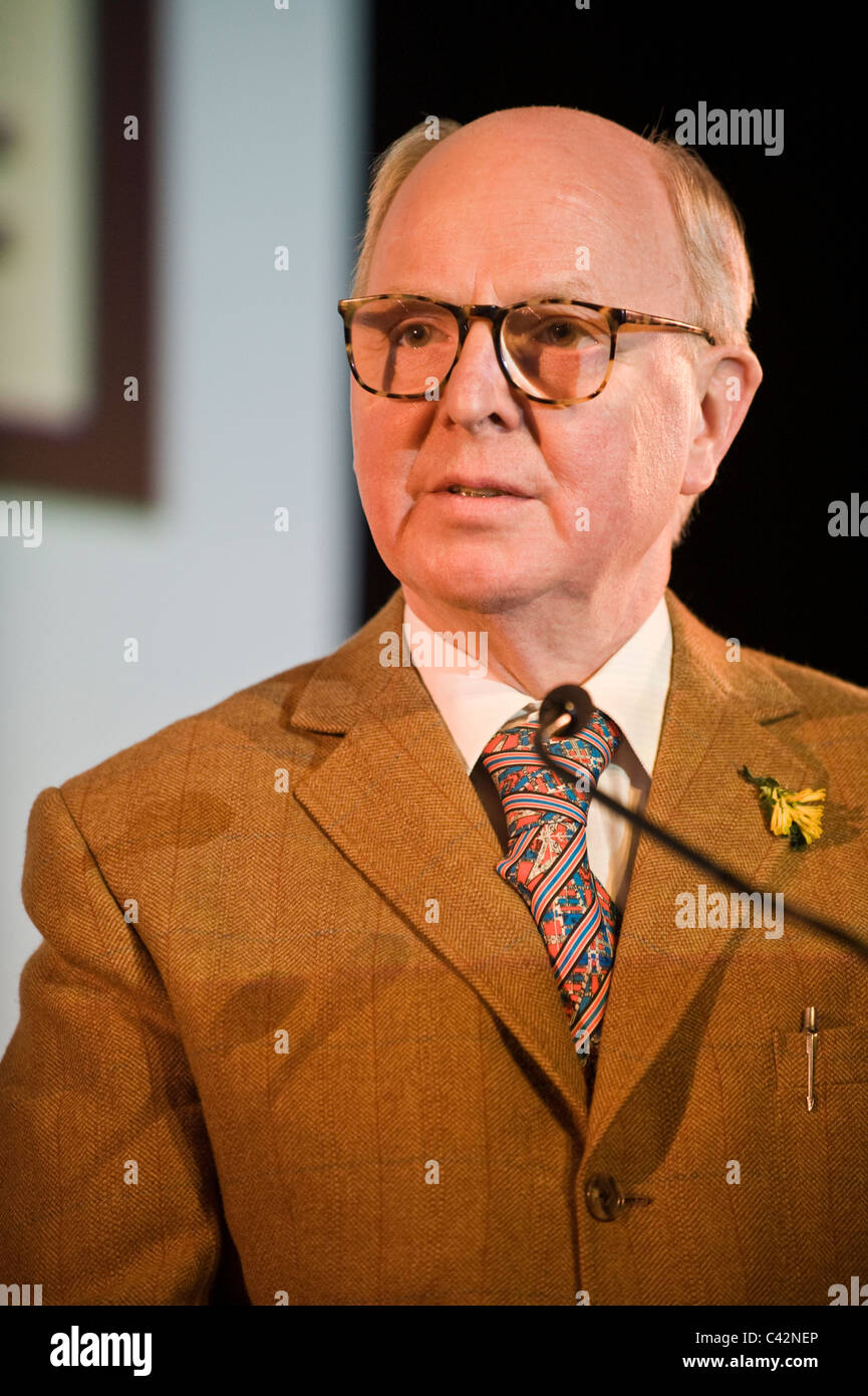 George of Gilbert and George artists pictured at Hay Festival 2011 Stock Photo