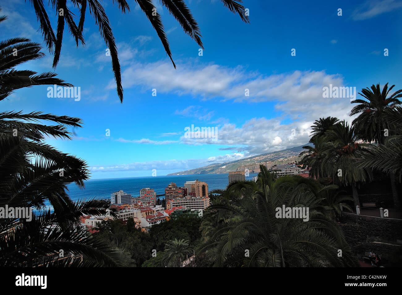 Puerto de la Cruz, Tenerife, The Canary Islands - Stock Image