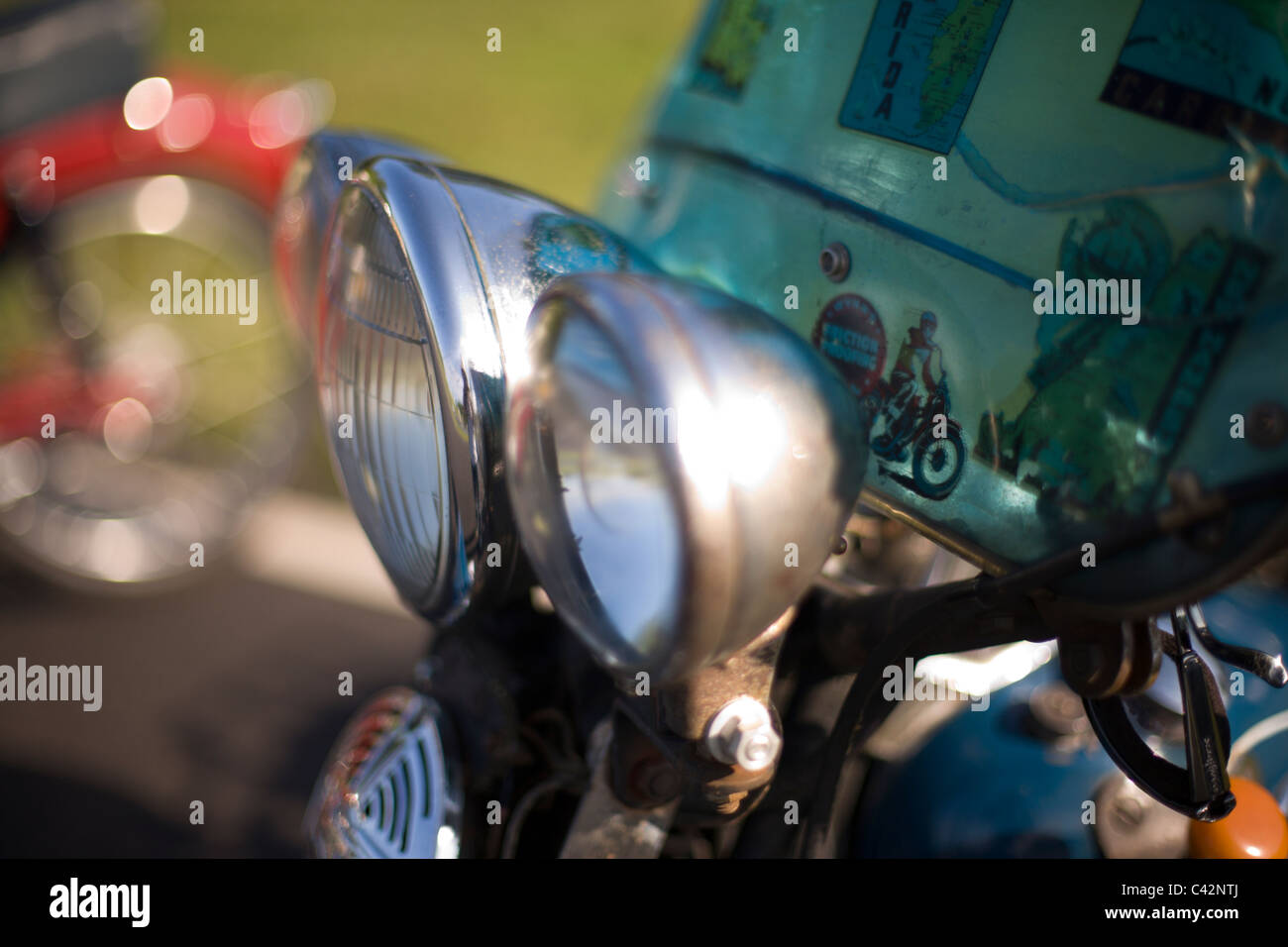 Vintage Motorcycle Headlights Stock Photo 36940418 Alamy