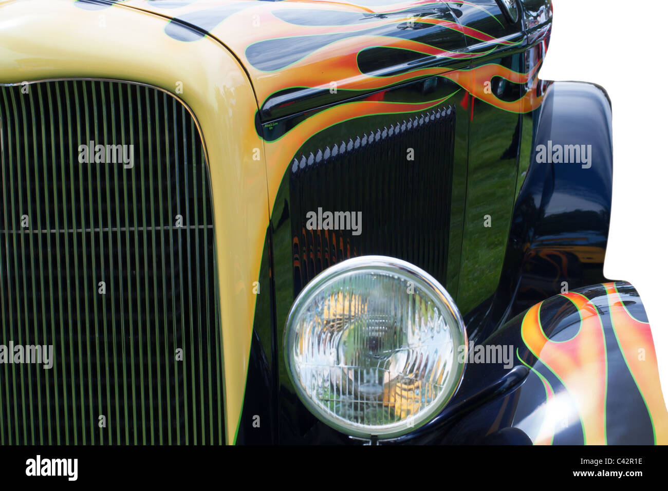 Hot Rod With Flames Paint Job Stock Photo 36941338 Alamy