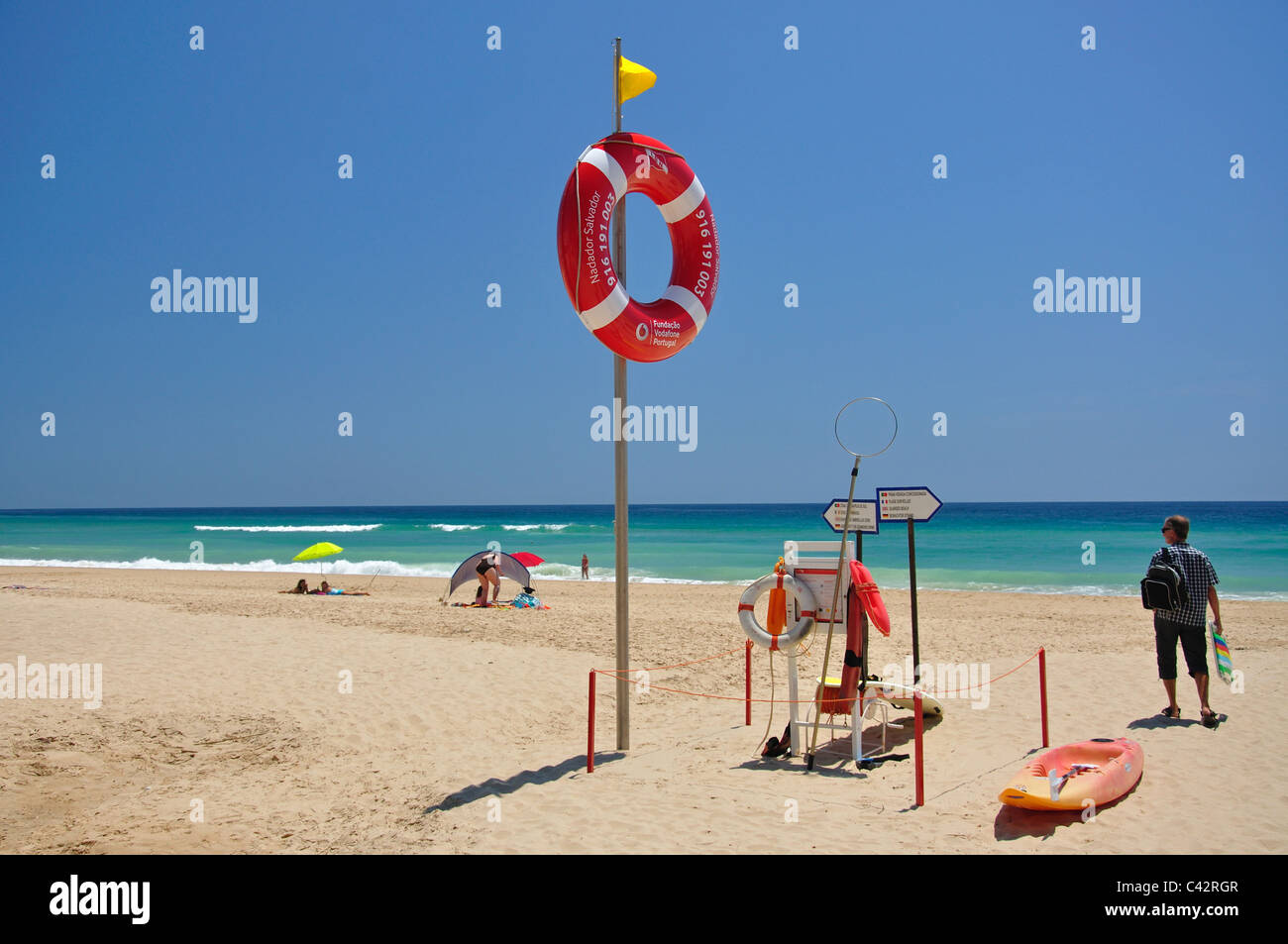 Praia de Salema, Salema, Faro District, Algarve Region, Portugal - Stock Image