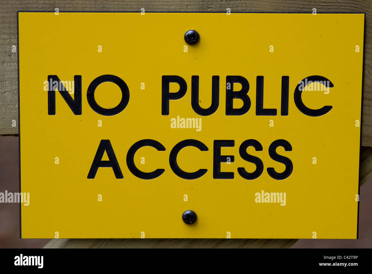 No Public Access Sign on a gate in England - Stock Image