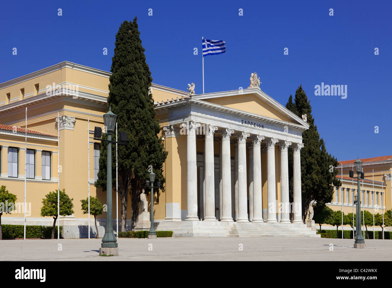The Zappeion building (1888) used during the 1896 Olympic Games at the National Gardens of Athens, Greece Stock Photo