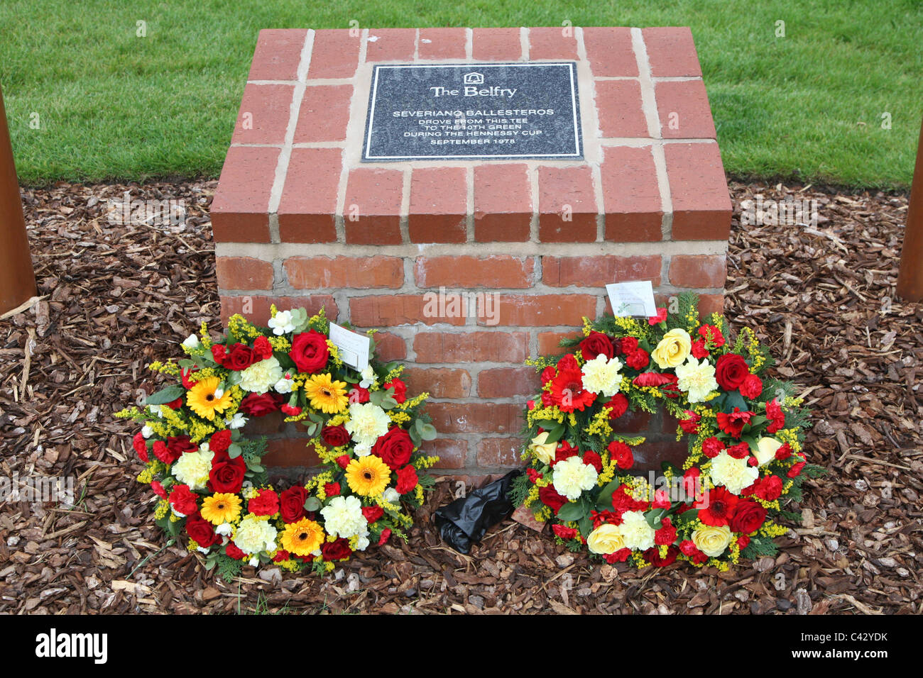 Tribute to Severiano Ballasteros at The Belfry, Sutton Coldfield - Stock Image