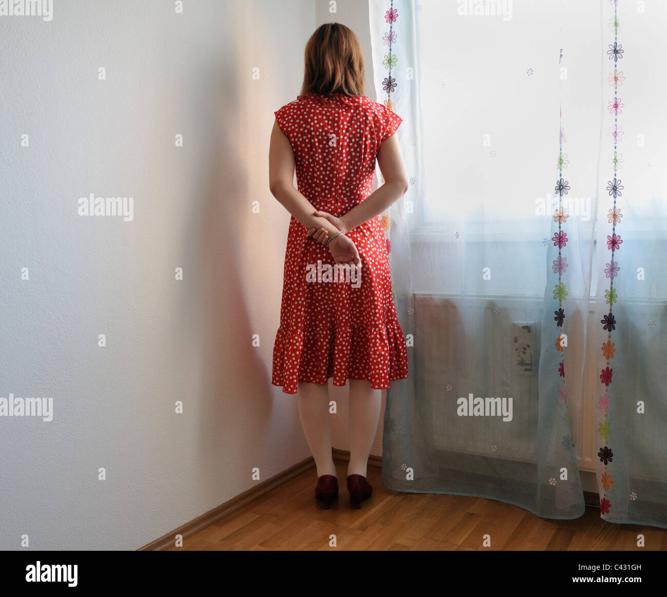 Lonely young woman - Stock Image