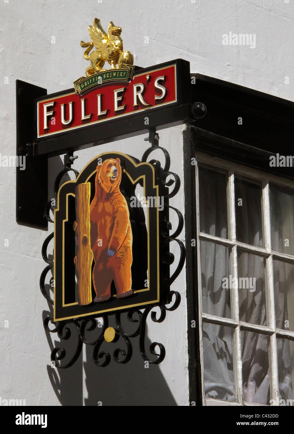 Fuller's pub sign - Stock Image