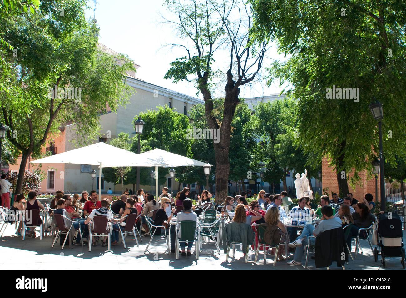 Summer Cafe Madrid Stock Photos Summer Cafe Madrid Stock