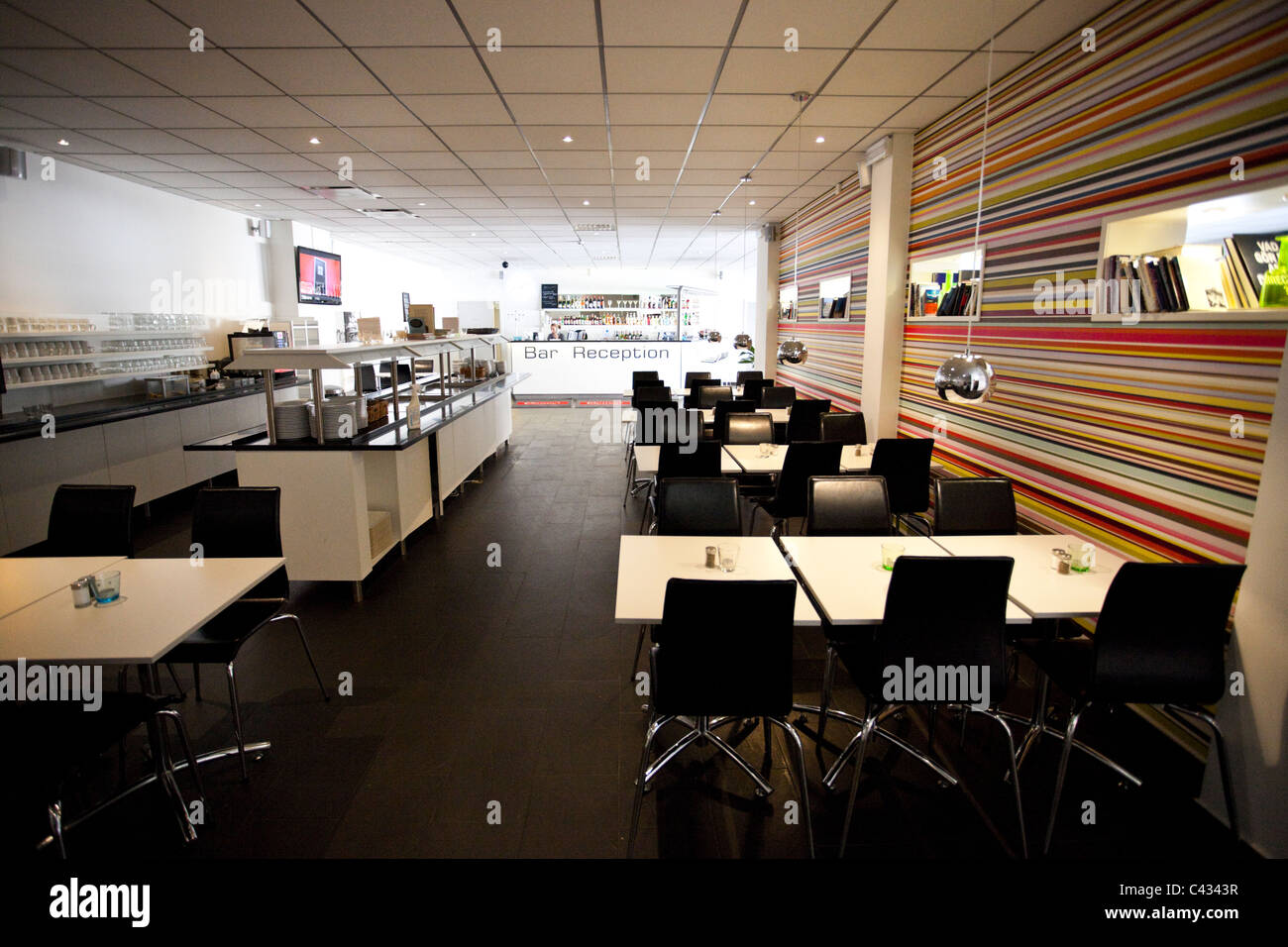 Empty diner - Stock Image