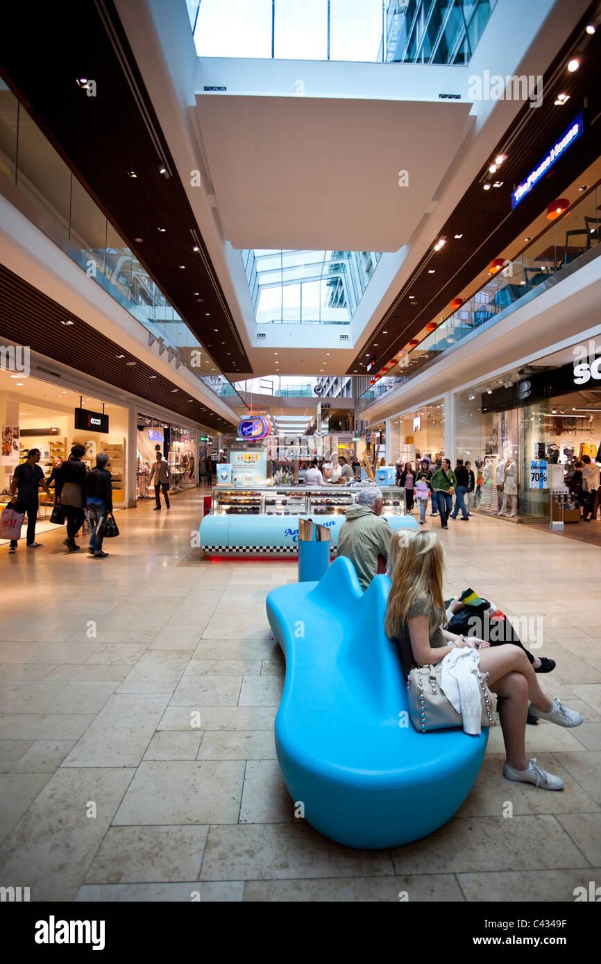 Shopping centre, Stockholm, Sweden. - Stock Image