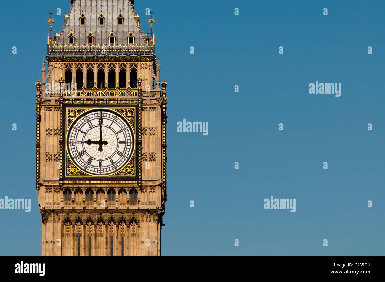 Big Ben Clock Closeup,London,England,UK - Stock Image