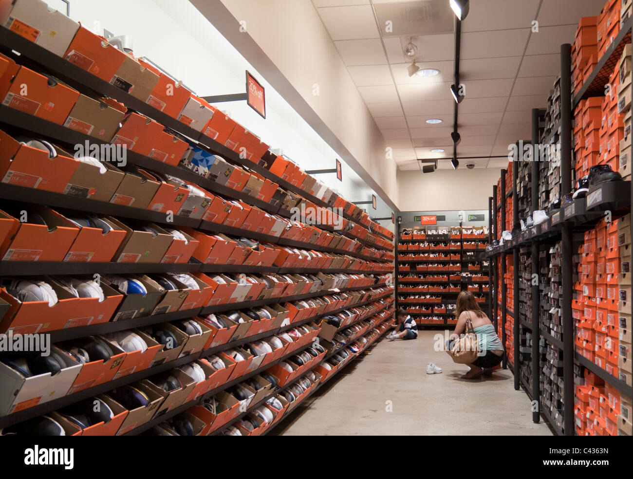 shoes for sale at NIke outlet store