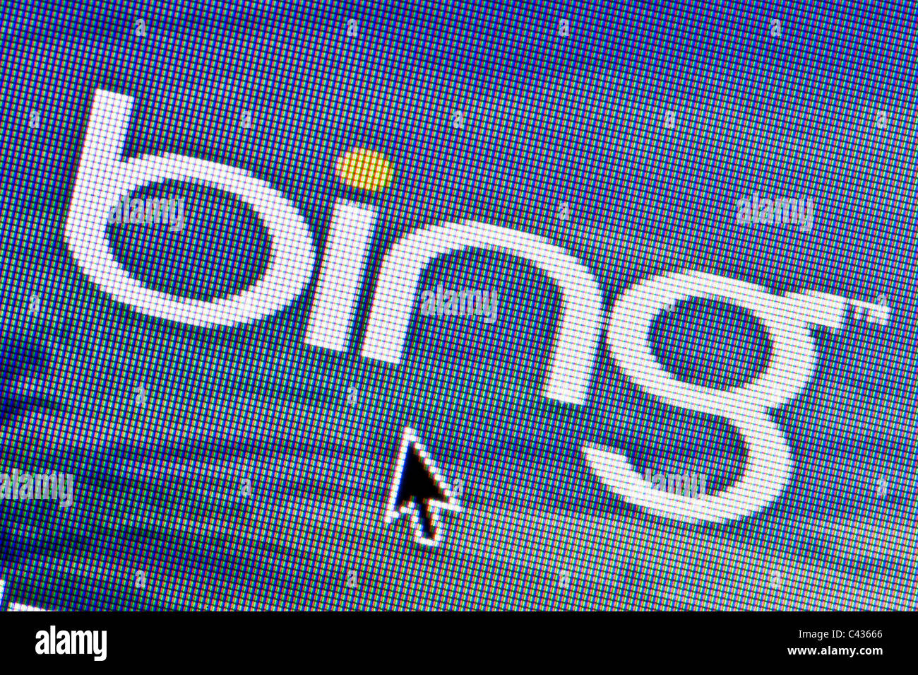 Close up of the Bing logo as seen on its website. (Editorial use only: print, TV, e-book and editorial website). - Stock Image
