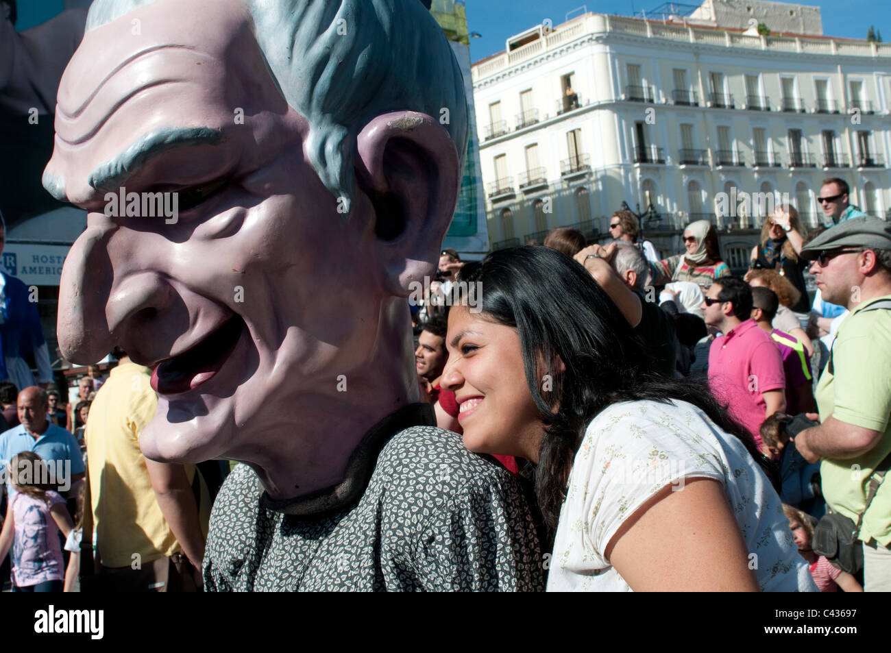Gigantes Y Cabezudos Giants And Big Heads Festival Of San Isidro