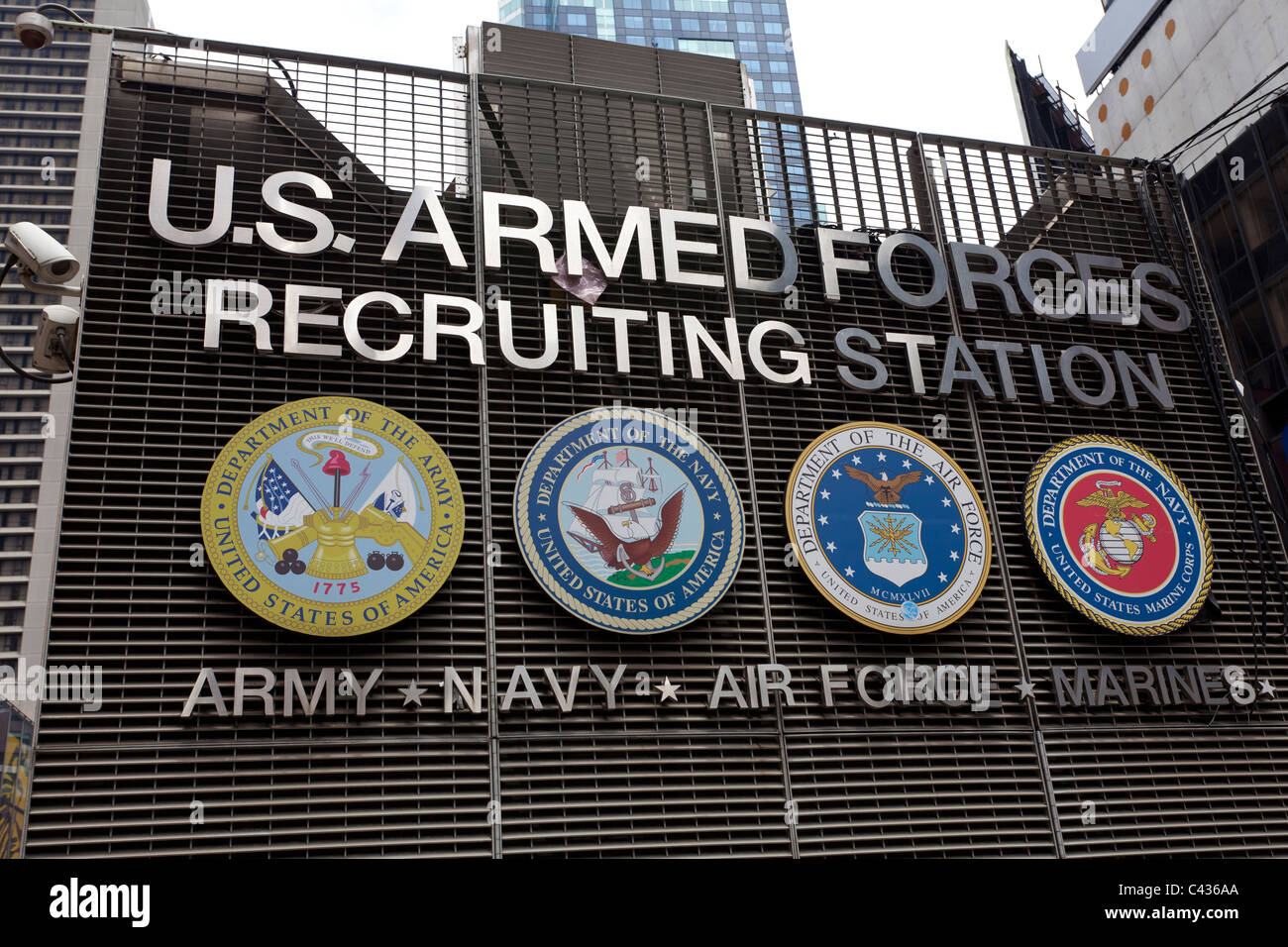 US Armed Forces Recruiting Station, Times Square, Manhattan, New York, USA - Stock Image