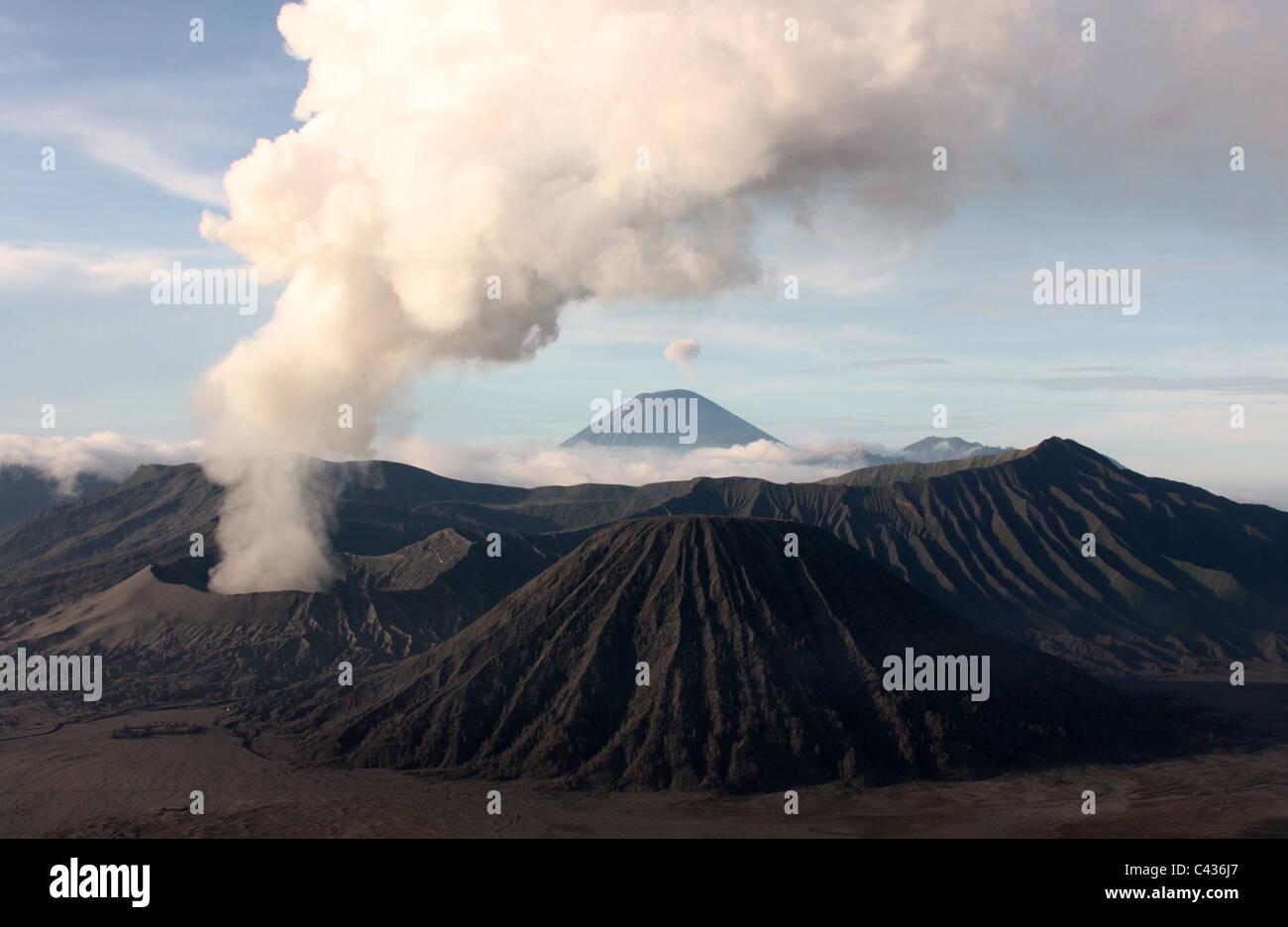 Bromo Tengger Semeru National Park in East Java - Stock Image