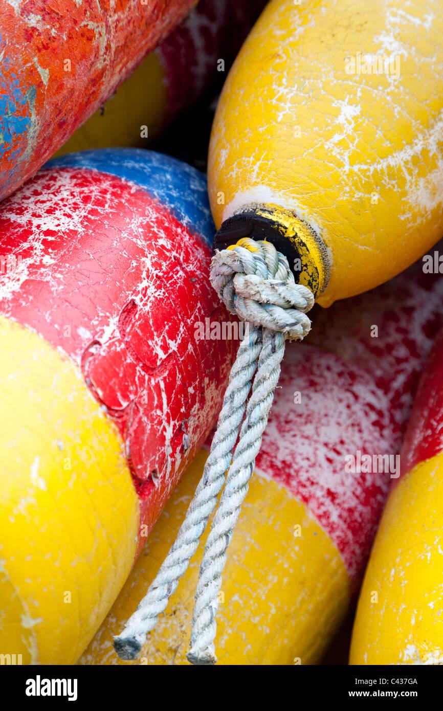 Fishing floats at Newport Oregon USA - Stock Image