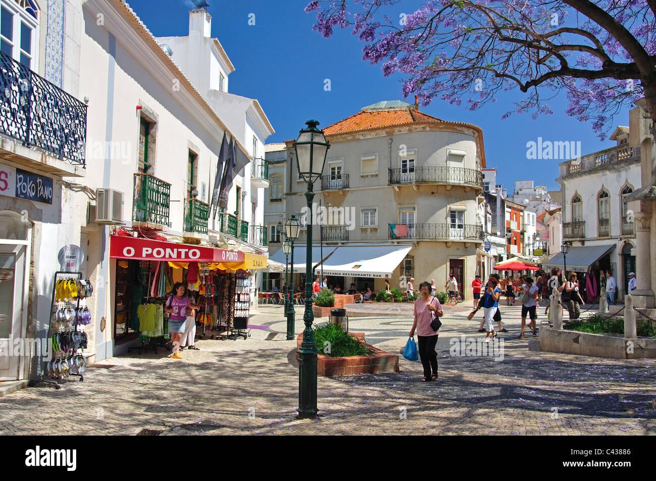 Praca Luis de Camoes, Lagos, Lagos Municipality, Faro District, Algarve Region, Portugal - Stock Image